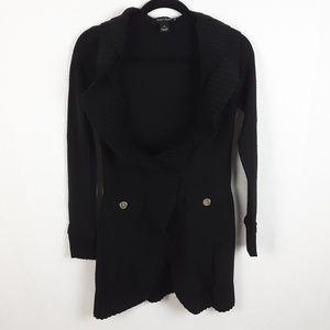 White House Black Market Ruffle Cardigan Wool S